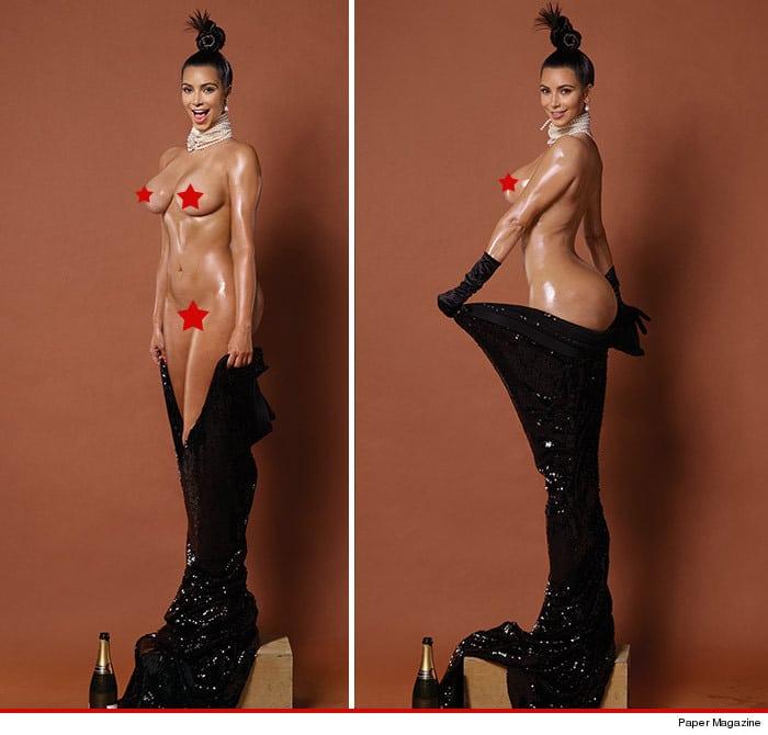 Kim Kardashian naked breaks the internet