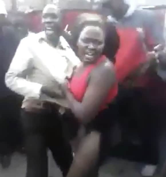 Kenyan woman beaten because she was tempting men