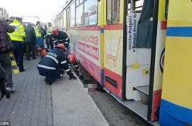 Pictures: Elena Filotti, Romanian pensioner sliced in half by tram after ignoring red light