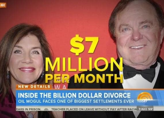 $1 billion divorce Sue Ann Hamm
