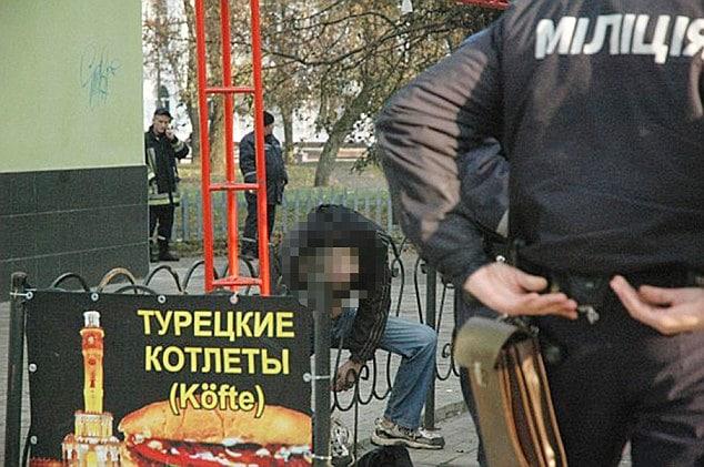 Ukrainian man suicide by fence