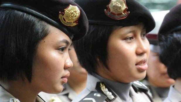 Indonesian female police recruits