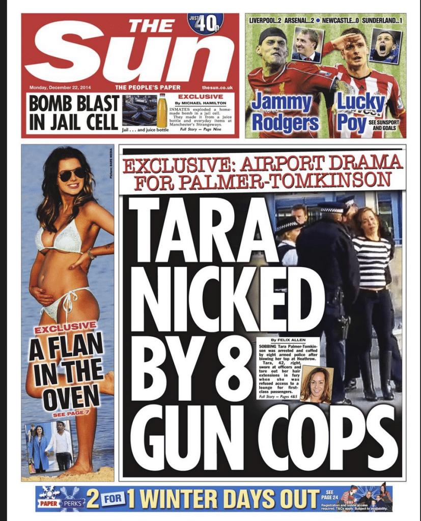 Tara Palmer Tomkinson arrested