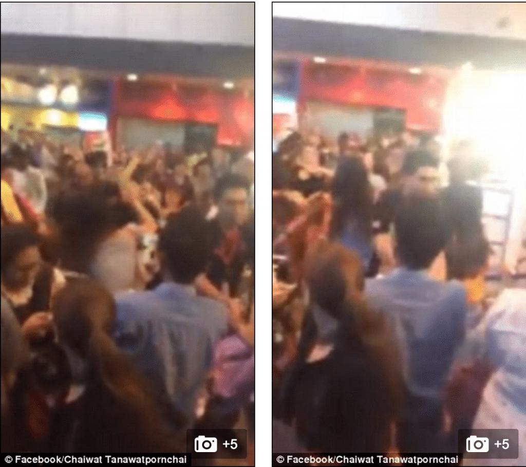 Women brawl at Bangkok airport