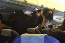 Air China Brawl: Crying baby sparks mid flight brawl between 4 women
