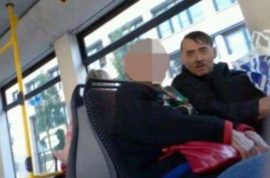 Emin Djinovci, Adolf Hitler look alike is a hit charging $90 for pictures with copy of Mein Kampf.