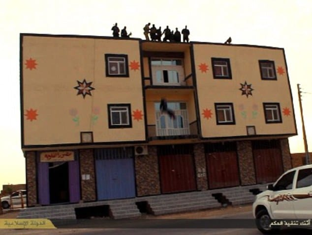 ISIS throw man off roof for being gay