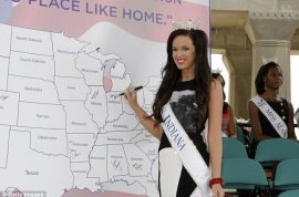 Terrin Thomas Miss Indiana arrested in drunken break in escapade into boyfriend's apartment