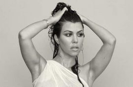 Kourtney Kardashian naked and pregnant for Dujour: I don't care if it doesn't make you happy.