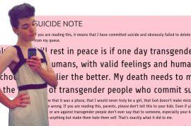 Leelah Alcorn, Transgender teen suicide: 'My Christian parents caused my death.'