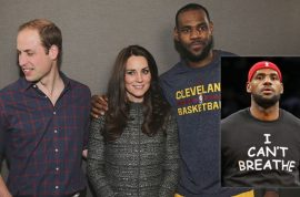 Was LeBron James wrong to put his arm around Kate Middleton?