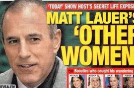 Oh really? Matt Lauer left wife then came crawling back after affair.
