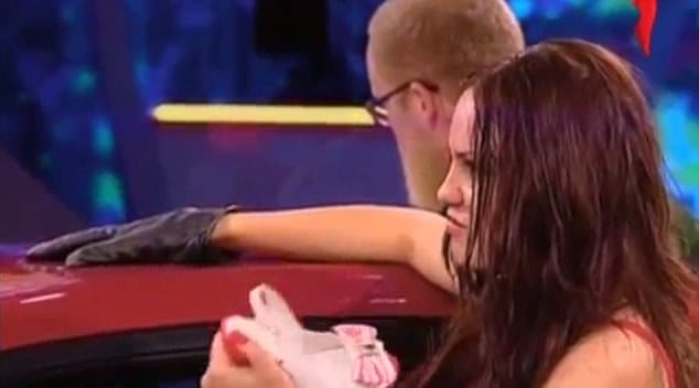 Russian woman punched in the face by fellow contestant