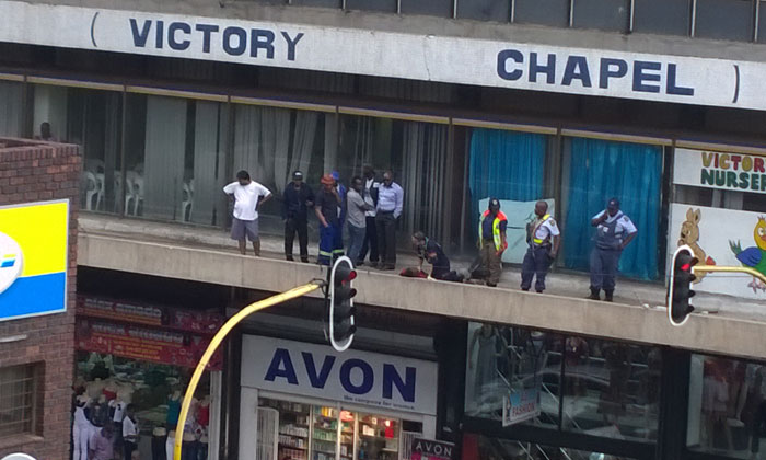 Suicidal Johannesburg man jumps to his death