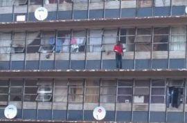 Pictures: Suicidal Johannesburg man jumps to his death after crowd chants 'Jump!'