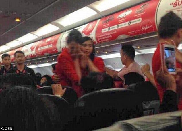 Thai AirAsia flight attendant scalded