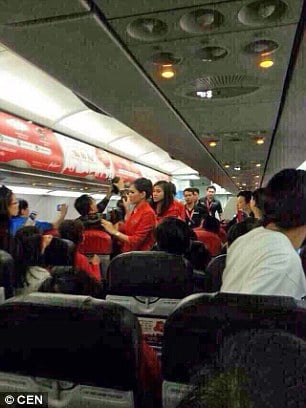 Thai AirAsia flight attendant scalded