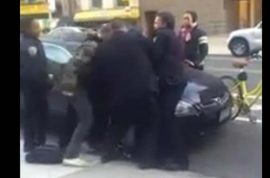 Video: Twelve year old black boy beat up by white NYPD cop.