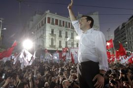 Alexis Tsipras Syriza party wins. Can he beat the banker hegemony club?