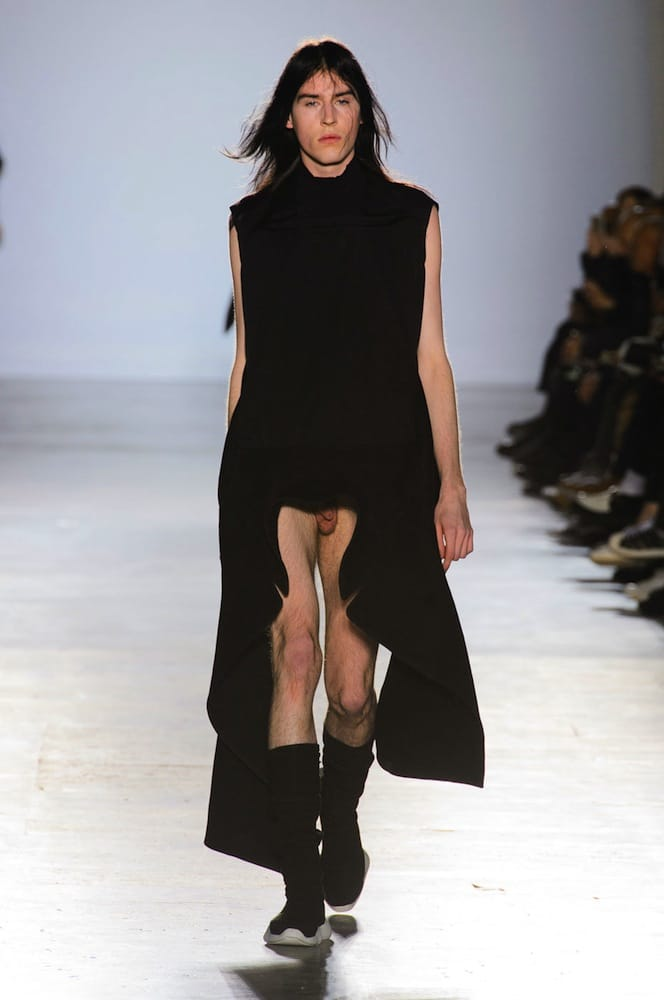 Rick Owens men's fashion show penis