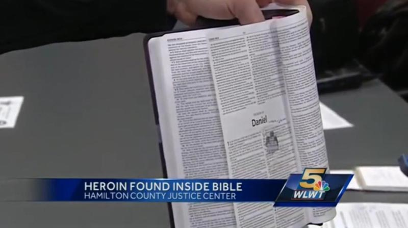 Woman smuggling heroin laced bible