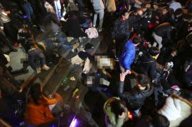 Pictures: Shanghai New Year's eve stampede kills 36. Thought it was raining money…