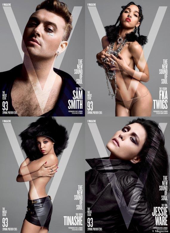 Miley Cyrus topless V magazine