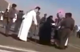 Saudi woman publicly beheaded. Dragged by 4 policemen whilst maintaining innocence.
