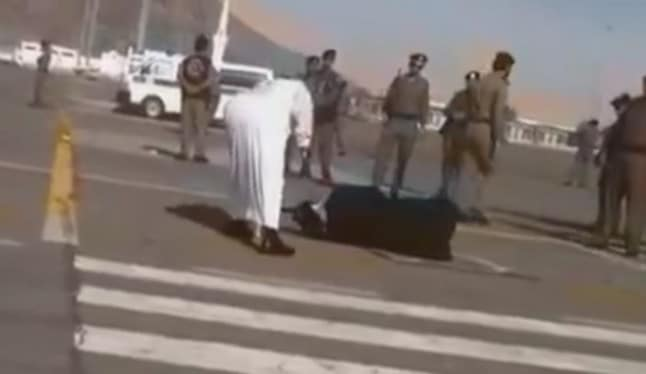 Saudi woman publicly beheaded