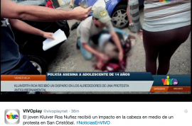 Video: Kluiver Roa, Venezuelan protester killed by cops leaked online
