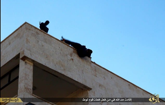 ISIS throw gay man from top of building