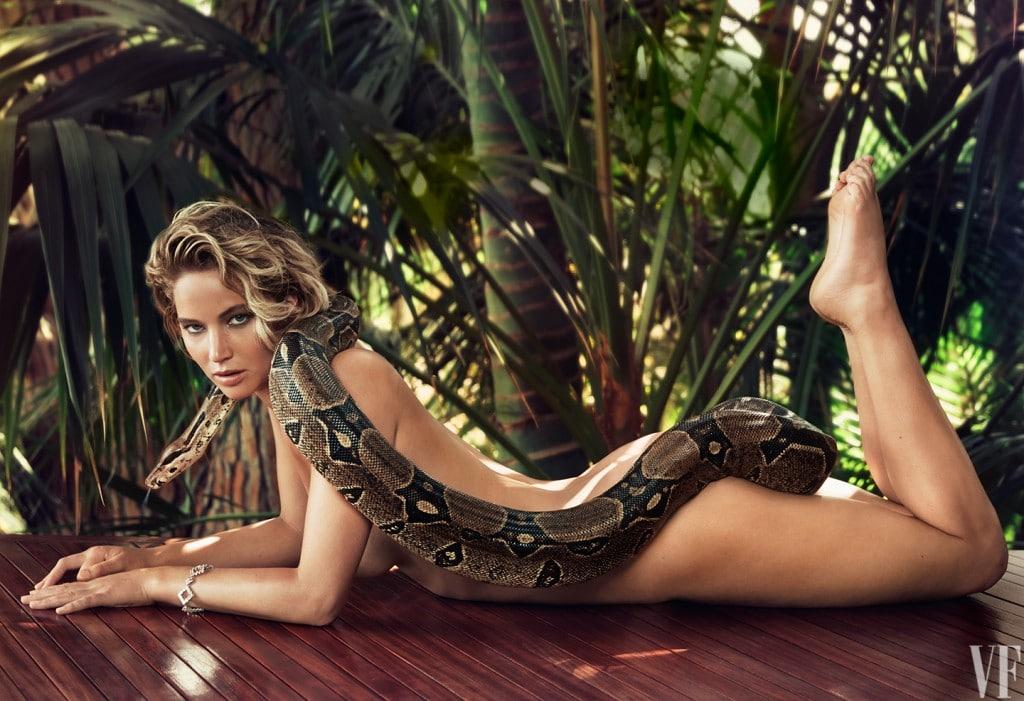 Jennifer Lawrence naked for Vanity Fair