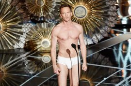Neil Patrick Harris struts in his underwear at Oscars 2015. Twitter gushes.