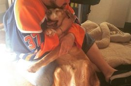 Did Director Kevin Smith go too far? Shared photo cuddling dying dog?
