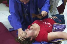 Video: Screaming Argentinian woman exorcised: 'Leave her now.'