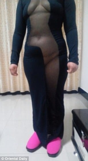 Chinese woman posts ill fitting cut out dress