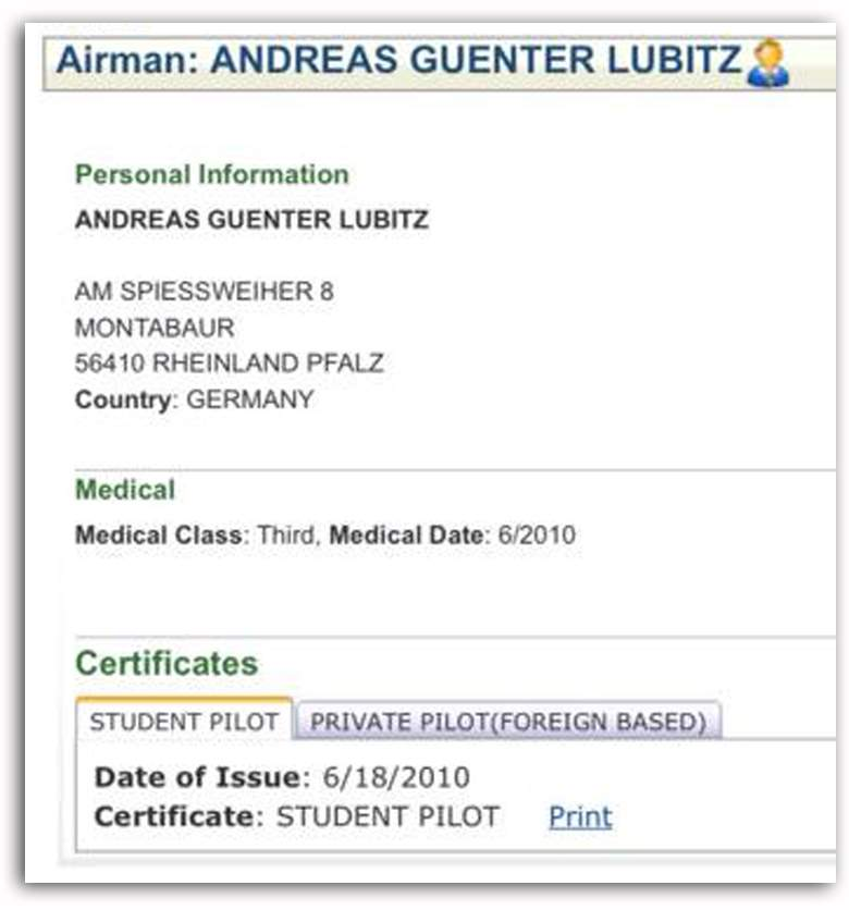 Andreas Gunter Lubitz