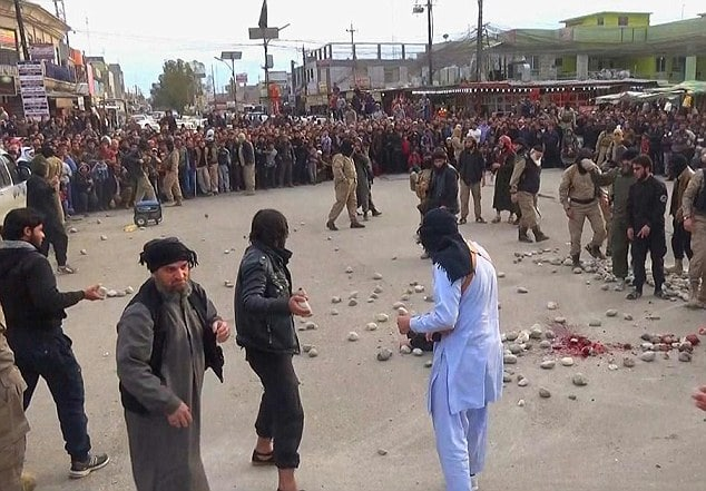 ISIS stones to death couple accused of fornication