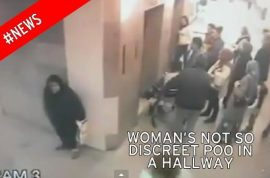 Video: Woman takes poo at busy Istanbul hospital corridor then walks away