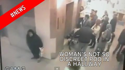 Woman takes poo at busy Istanbul hospital corridor