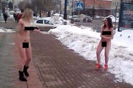 Pictures: Russian Department store workers strip naked sacked