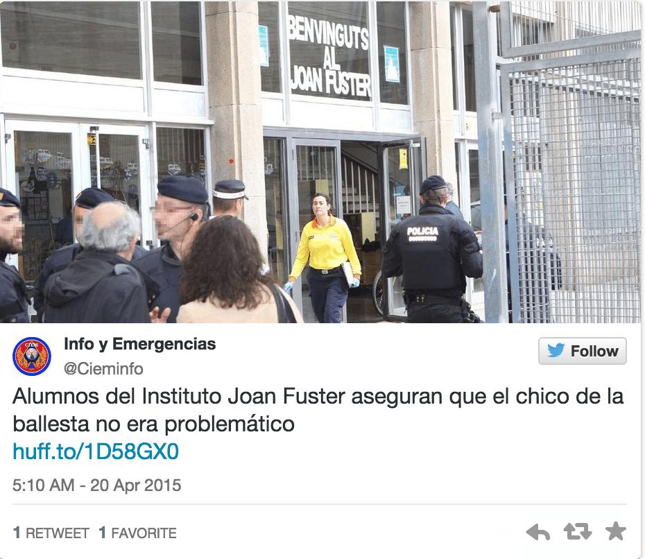 Spanish schoolboy crossbow attack