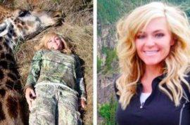 Hunter, Rebecca Francis gets death threats after dead giraffe selfie: 'I don't regret it.'