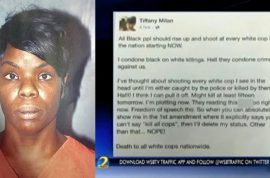 Should Ebony Dickens be arrested after making death threats on Facebook?