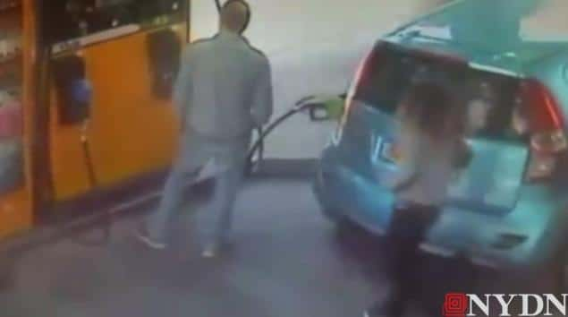 Israeli woman sets gas station on fire