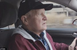 Grandfather with terminal cancer works as Uber driver to avoid eviction.