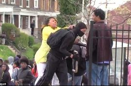 Baltimore mom smacks son for taking part in riots. Becomes internet star