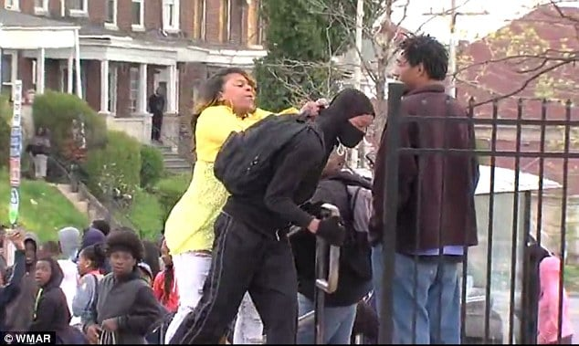 Baltimore mom smacks son