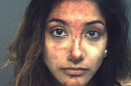 Britney E. Montenegro arrested after awesome bar fight.