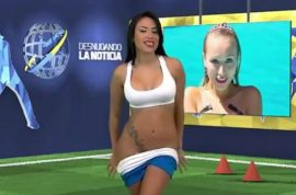 Video: Yuvi Pallares, Venezuelan tv presenter gets raunchy during Cristiano Ronaldo segment